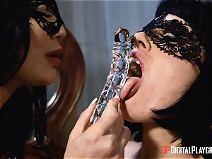 inviting lesbos Olive Glass and Jasmine Jae steam up the apartment