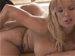 ginormous jugged lesbians Alison Tyler and Stormy Daniels