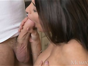 mom French dark-haired Anissa Kate smashes the plumber