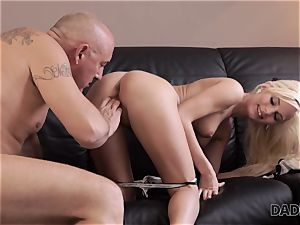 DADDY4K. senior man graciously pleases nubile s appetite for yummy seed