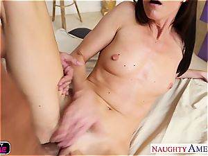 slim India Summer strokes off Mick Blue's enormous man sausage