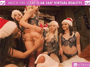 VRBangers Christams orgy With Eight marvelous Elves