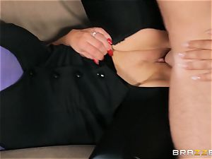 Nikki Benz and Bridgette B get messy with the security boy