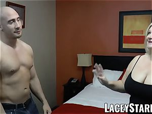 LACEYSTARR - GILF entices gigantic dicked bear into pulverizing