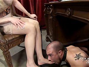 horny ginormous bosses Headmistress Brandi enjoy predominates her employee in the office