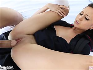 brutha pokes his junior sista Ariana Marie after lessons