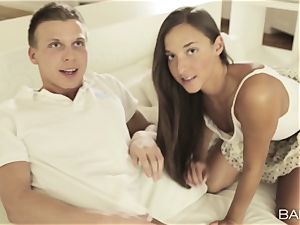 Angel Snow joins in the joy with Amirah Adara and her warm boy