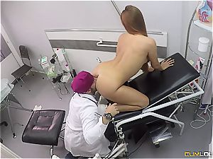 Spanish sandy-haired gets a deep gash examination