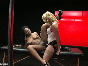 tough Kathia Nobili shoves her strap on manhood deep down her playmate hatch