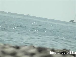 steamy naked dame spied beach hidden cam