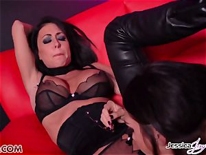 Jessica Jaymes porked by Alison Tyler using a strapon