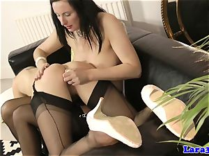 Posh mature elation huge-boobed softcore female