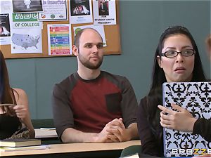 Jean Michaels ravages her educator in the classroom