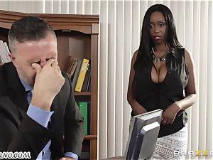 My fresh black secretary Codi Bryant with fat inborn cupcakes