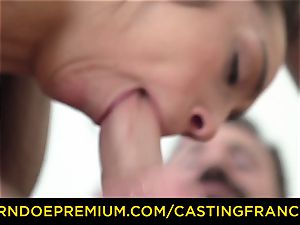 casting FRANCAIS - inexperienced sweetheart banged and jizm coated
