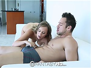 FantasyHD - Alexis Adams gets revved over and plumbed