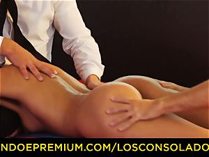 LOS CONSOLADORES - flawless blondies sixty nine in group orgy