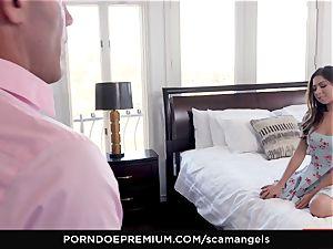 SCAM ANGELS - Gina Valentina gang hook-up with super-steamy honeys