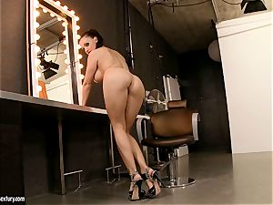 enormous boobed Aletta Ocean likes dipping her magnificent frigs in her simmering fuckhole