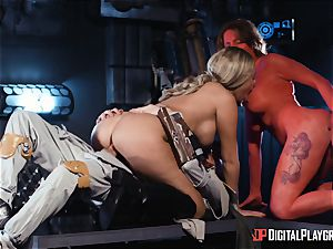 Monster penis craving space beauties Athena Palomino and Carly Rae
