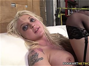 Leya Falcon Gets booty-fucked By A dangled black guy
