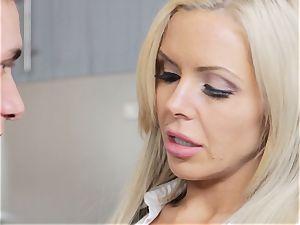 cool platinum-blonde mummy Nina Elle enjoys a toyboy trunk