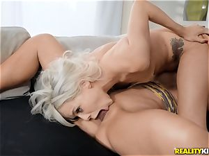 ash-blonde slit fun with Elsa Jean and Nicolette Shea