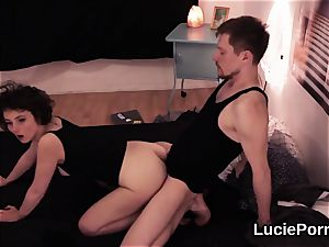 amateur lezzy nymphos get their open up cooters munched and widened