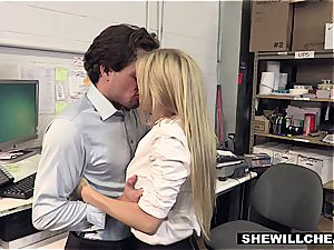SheWillCheat - huge-titted cougar manager plumbs new worker