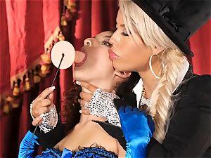 Bridgette B puts sizzling secretary Lana Lovelace thru her paces