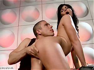 inebriated tramp gets banged in nightclub