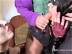 three way with Harley and Catwomen