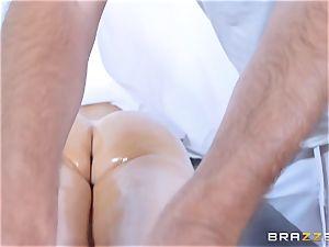 Nikki Benz and Dani Daniels have a deep tissue massage