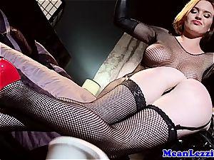 ultra-cute Catie Parker munches Krissy Lynn's tight vulva