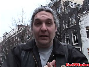Doggystyled amsterdam hooker bangs tourist