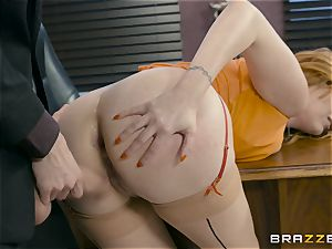 Lauren Philips muff wedged by monster boner