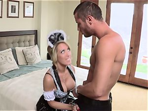 warm maid Capri Cavanni gives her chief some extras