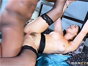 Dani Daniels takes this gigantic ebony pink cigar with relief