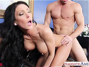 exclusive Jessica Jaymes blows and humps his ample member