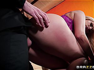 busty boss Wellie greets Danny D with anal