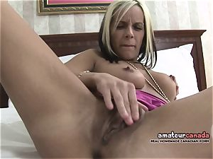 bony french Canadian stunner homemade porn frigs puss