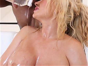 huge-titted towheaded Summer Brielle drilled deep in her oily gash