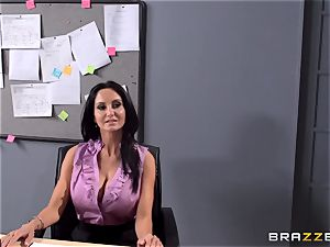 huge-titted tutor Ava Addams is pummeled by her college girl