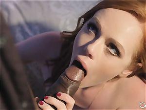 big black cock for super-naughty redhead Ella Huhges