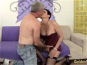 Mature bi-atch entices a immense Dicked boy