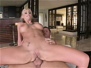 anal invasion lover Phoenix Marie juggles her ass on a thick manhood